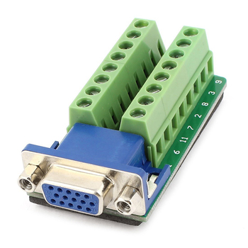 цена на D-SUB DB15 Female 15Pin Jack Port to Terminal Breakout Board Connector