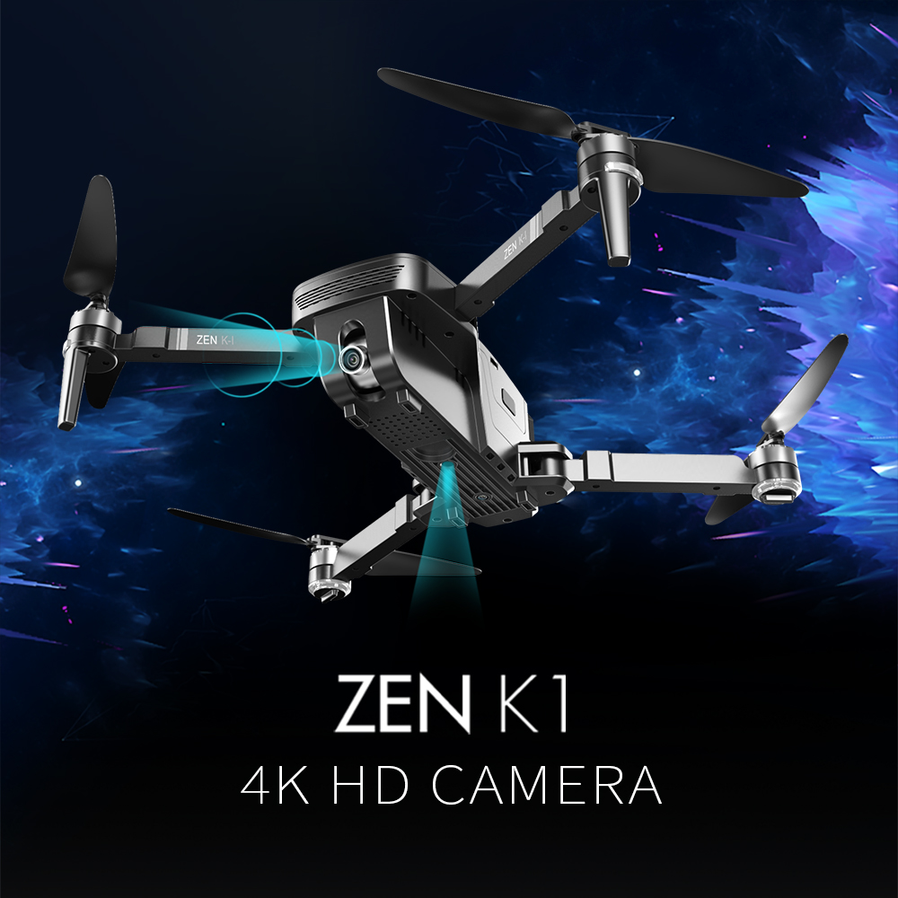 VISUO ZEN K1 RC Drone GPS  Brushless 4K Dual Camera Wide Angle 5G WIFI Beauty Filter Optiacal Flow Figure 60Km/h RC Quadcopter