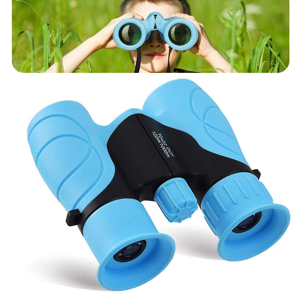High Definition Hunting Binocular Adjustable Diopter Hiking With Lanyard 10X22 Bird Watching Safe Anti-fall Compact Kids image