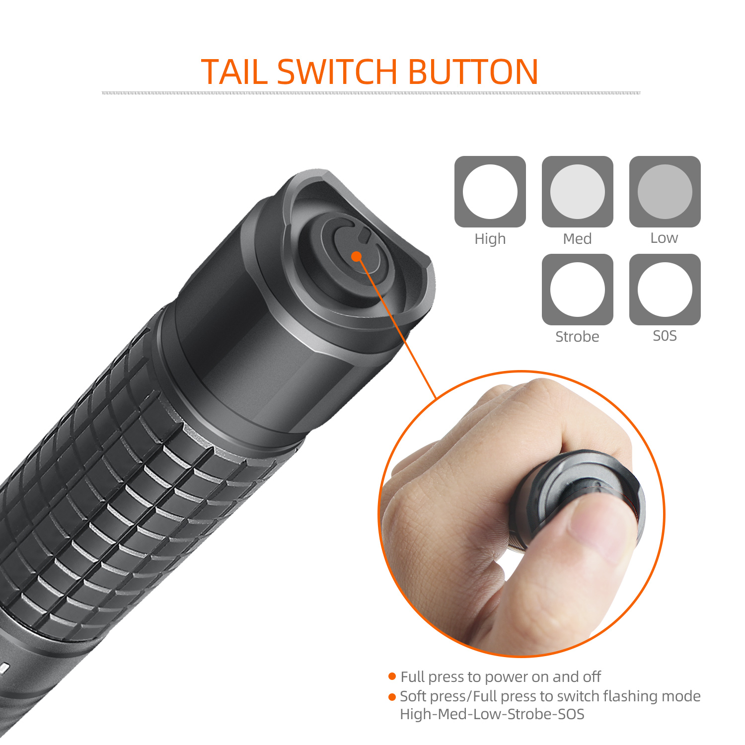 Image 5 - NICRON Zoomable LED Flashlight Dual Fuel 18650 / AA Battery 700LM IPX4 Waterproof 5 Modes For Riding Outdoor LED Torch Light N81-in Flashlights & Torches from Lights & Lighting