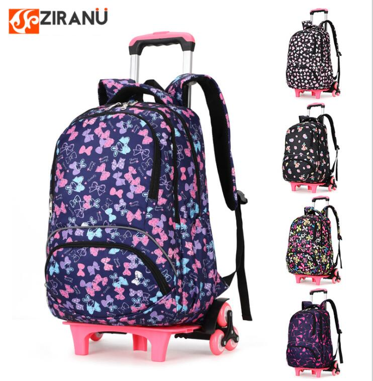 School Rolling Backpack For Girls Wheeled Backpack For School Children School Trolley Bag Kids Travel Trolley Backpack On Wheels
