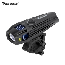 WEST BIKING Bike Lights Bicycle LED Light For MTB Mountain USB Waterproof Bicycle Front LED Light Cycling Bike Accessories bikein road bike led front light taillight usb rechargeable light cycling mountain bike handlebar mtb bicycle accessories