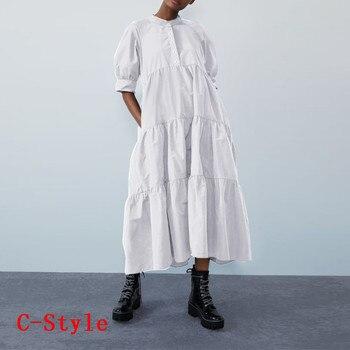 Летнее платье винтажное сексуальное платье до середины икры с рукавами-фонариками VONDA 2020 женский сарафан повседневное богемное пляжное платье размера плюс 6