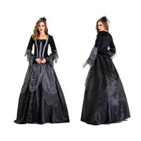 New Halloween Costume Ghost Bride Witch Vampire Costume Masquerade Cosplay Costume Goth Sexy Comfortable Long Skirt