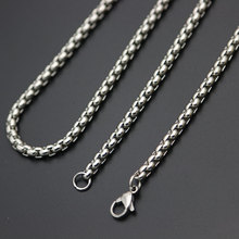 Fashion Jewelry Silver Chain 2mm 3mm 2.5mm 4mm Stainless Steel box Necklace For women men locket pendant