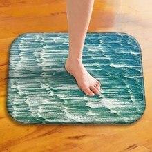 Tapis de sol épais en velours, tapis de sol décoratif pour hôtel, tapis de porte de cuisine, tapis de salle de bain.