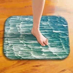 Image 1 - Tapis de sol épais en velours, tapis de sol décoratif pour hôtel, tapis de porte de cuisine, tapis de salle de bain.