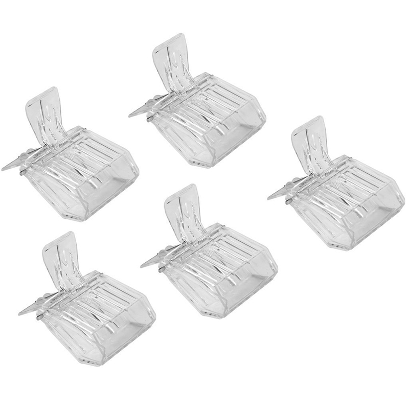 5pcs Beekeepers White Queen Bee Needle Isolator Cage Triangle