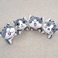 9 см мягкий плюшевый Каваий Кот кукла брелок с котом серый сидящий Кот плюшевые игрушки букет подарок плюшевая игрушка цветок кошка кукла подарок