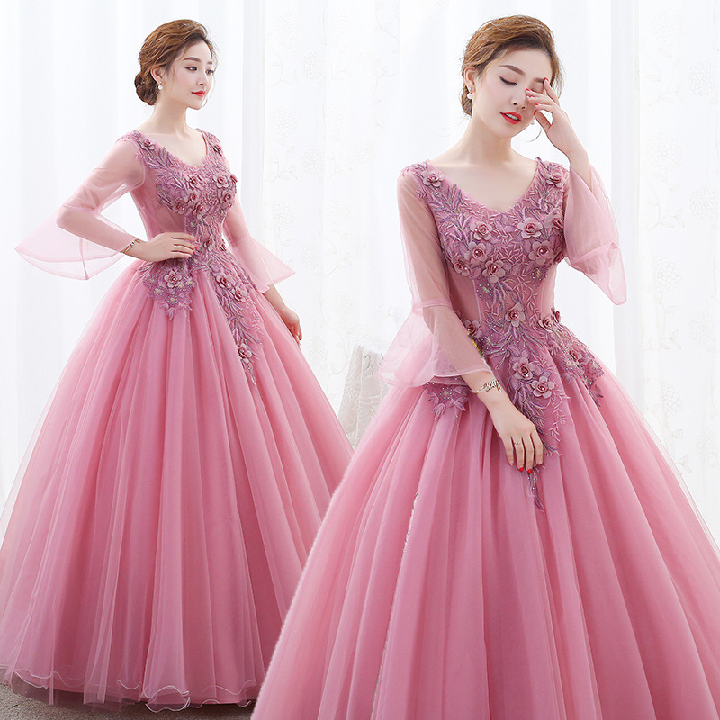 Lace Quinceanera Dresses Ball Gown Long Sleeve Tulle Prom  Debutante Sixteen 15 Sweet 16 Dress Quinceanera KleidQuinceanera  Dresses