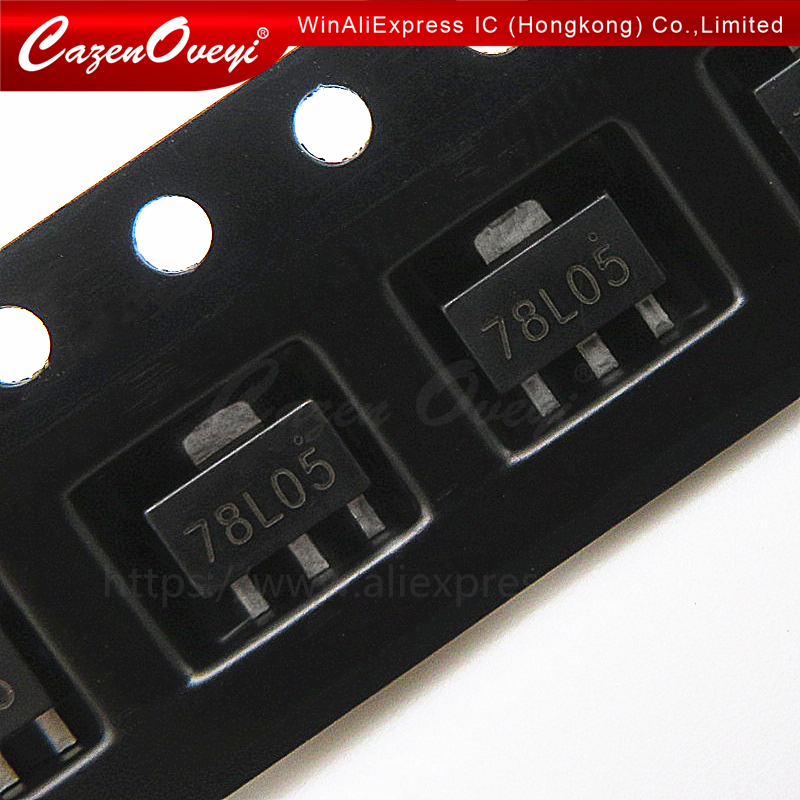 20PCS 78L05 L78L05 7805 Voltage Regulator 5V 100mA SOT-89 SMD TOCA