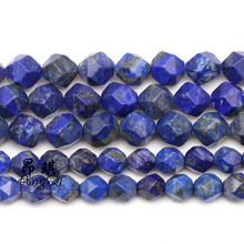 Natural Stone Faceted lapis lazuli Loose Beads 6-10mm Gem Stone Beads for Jewelry Making DIY charm Bracelets for men women 15'' natural gem stone pendant necklace for men women oval onyx lapis lazuli pink crystal pendants 18 neck chain fashion jewelry
