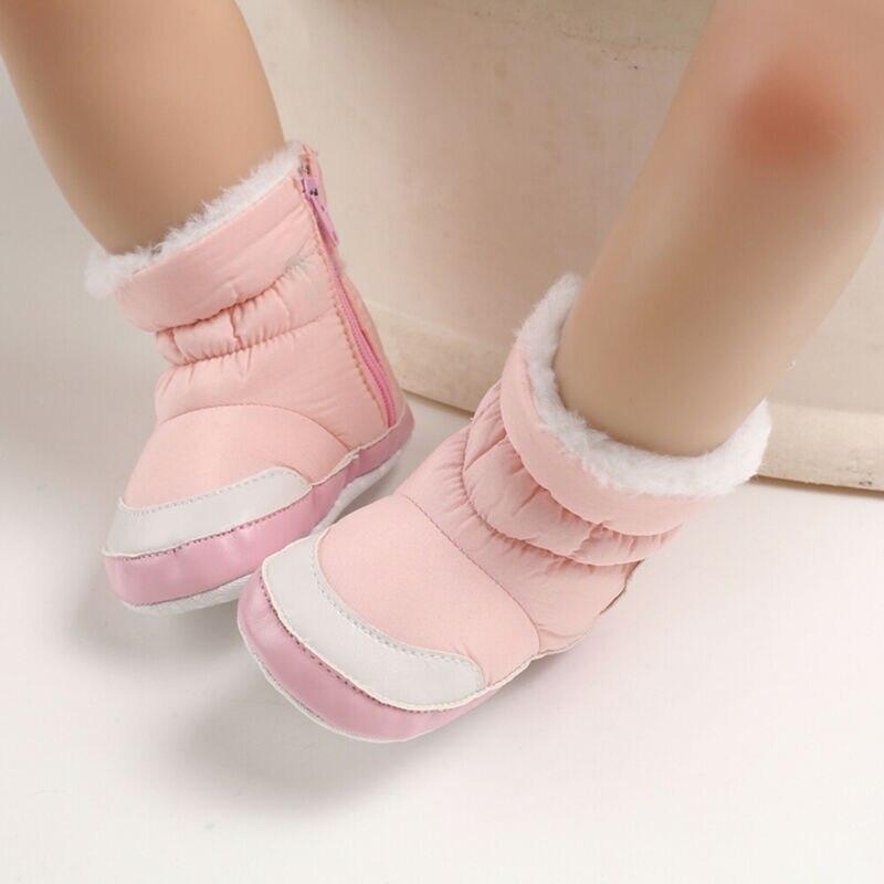 DOGEEK 0-18M hiver bébé fille garçon chaussons infantile enfant en bas âge bottes de neige nouveau-né chaud anti-dérapant doux semelle chaussures mode Anti-sale 3