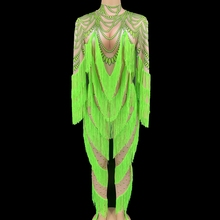 Romper Jumpsuit Stage-Performance-Clothes Clubwear Dance-Costume Party-Outfit Female