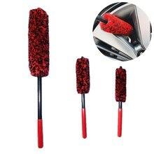 Escovas de limpeza dos woolies da roda vermelha do jogo das escovas da limpeza do pneumático do automóvel para a limpeza automotiva das rodas j60f