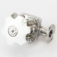 51mm 108mm (big size) Sanitary SS316 Stainless Steel Tri Clamp Diaphragm Valve Home Brew Beer Dairy Product