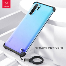 XUNDD for HUAWEI P30 Pro Transparent phone case bumper protective cover shell cute candy colorful matte frosted with strap