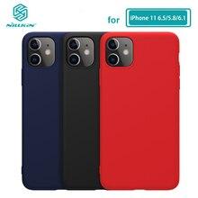 아이폰 11 프로 맥스 케이스 nillkin 액체 부드러운 실리콘 케이스 아이폰 11 프로 맥스 (5.8/6.1/6.5) 커버 럭셔리 보호 가방
