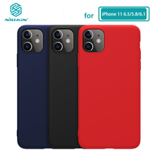 for iPhone 11 Pro Max Case NILLKIN Liquid Smooth Silicone Case For iPhone 11 Pro Max (5.8/6.1/6.5) Cover Luxury Protective Bags