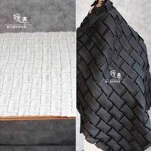 75x55cm Pleated Fabric Hand woven chiffon three-dimensional texture fold geometry transform apparel Designer DIY