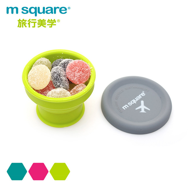 500ml 1000ml Outdoor Portable Silicone Folding Bowl