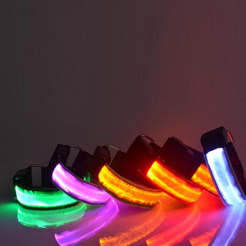 LED décoration de fête LED clignotant poignet camouflage Bracelet Bracelet équipement de course Bracelet brassard ceinture brillant décoration de mariage
