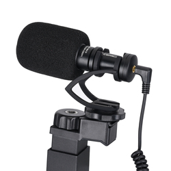 COMICA CVM-VM10 Video Kit w Condenser Microphone LED Light Shock-Mount Grip Video Shooting Gear for iPhone Samsung Xiaomi Huawei