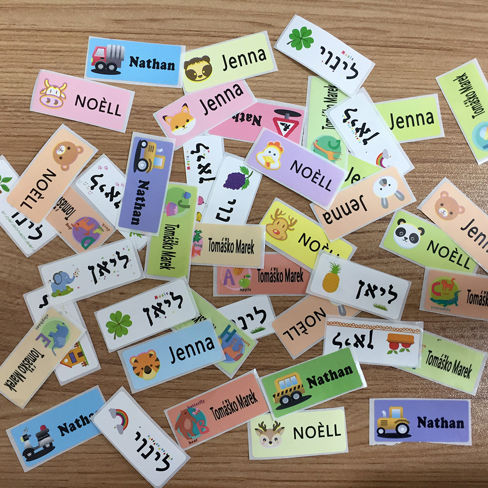 30Pcs 46X20MM Personalized Name Stickers Waterproof Customize Office School Stationery Tag Labels Water Bottle Lunch Box Sticker