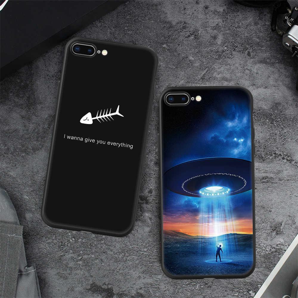 Para iphone 7 caso adorável padrão pintado tpu casos para iphone x 10 6 s xr xs max 7 8 plus 5S 5c se silicone desenhos animados impressão capa