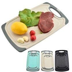 Eco pszenica słoma deska do krojenia prostokątna deska do krojenia dla smakoszy bloki do krojenia z uchwytem narzędzia kuchenne gadżety