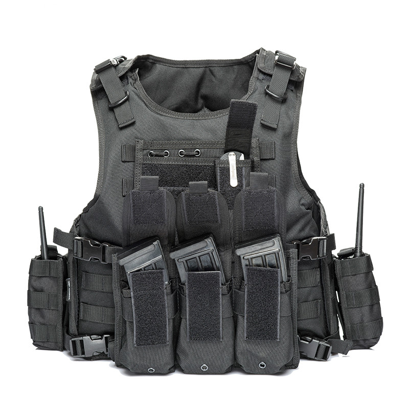 Army Molle Police Bulletproof Vest 2019 Military Tactical Vest Camouflage Body Armor Sports Wear Hunting Vest