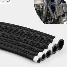 AN4 AN6 AN8 AN10 tubo flessibile carburante radiatore olio tubo flessibile tubo tubo Nylon acciaio inossidabile intrecciato interno gomma CPE 1/2/2/3/6 m
