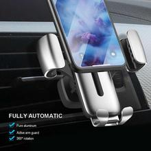 Universal Car Phone Holder For Phone In Car Air Vent Mount Stand No Magnetic Mobile Holder For iPhone Smartphone Gravity Bracket usams cd47 creative 2 in 1 wireless charging gravity car air vent mount for smartphone