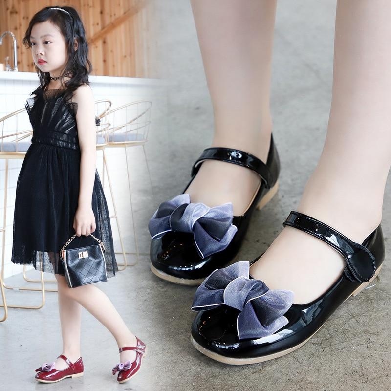 Fashion Casual Girls Shoes Leather Soft/Breathable Flat Non-Slip Leisure Infantil Menina Zapatos Niña Toddler Baby Kids Sandals