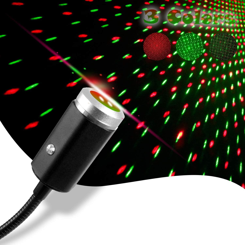 Автомобильный USB-светильник «звездное небо», светодиодсветодиодный лампа для салона автомобиля, USB-светильник, 3 цвета, проекционный ночник ...