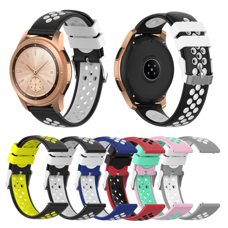 Watch Strap For Samsung galaxy watch Sport silicone belt Bracelet wriststrap For Huawei watch2 watch Accessories 20mm