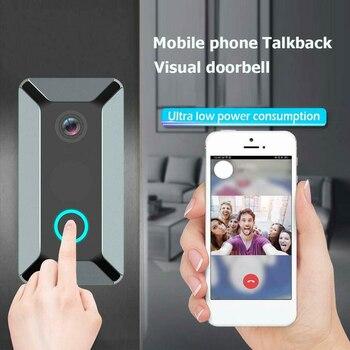 V6 Video Doorbell Smart Wireless WiFi Security Door Bell Visual Recording Home Monitor Night Vision Intercom door phone