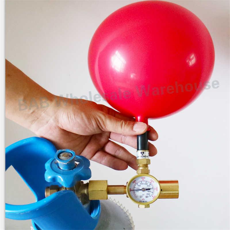 Fincos 15MPa Gas Filler Valve Helium Balloon Gas Inflator Tilt Valve Gas Regulator Brass Nozzle Mayitr