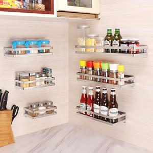 Storage-Organizer Shelves-Rack Shelf Punch-Free Bathroom Stainless-Steel Kitchen