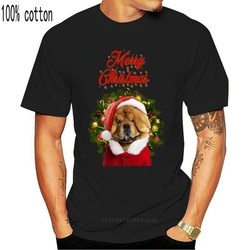 Chow Chow Merry Christmas Santa - Red Ringer Cotton Tshirt Cool Gift Personality Tee Shirt