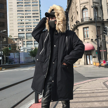 Winter Coat Men Warm Fashion Thick Parka Men Solid Color Casual Fur Collar Hooded Coat Man Loose Cotton Long Jacket Male Clothes winter jacket men warm fashion solid color casual fur collar hooded parka men jacket coats streetwear loose cotton male clothes