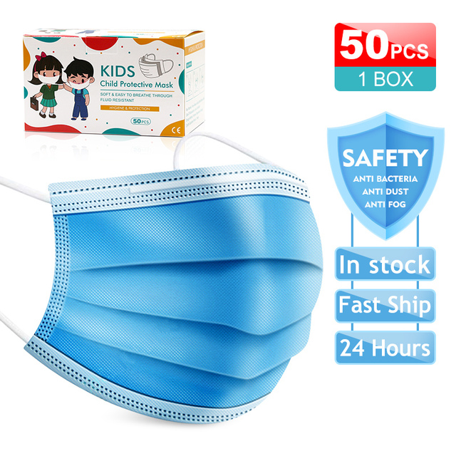 High quality Disposable face masks 3-Layer Anti bacterial Filtration Mascarillas Anti dust mask маска маски Safety shipping 5