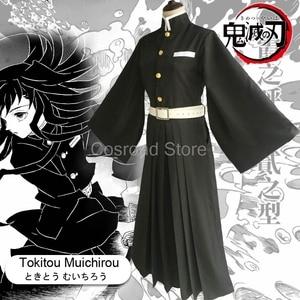 Image 2 - Cosroad Tokitou Muichirou Cosplay Costumes Demon Slayer: Kimetsu no Yaiba Muichirou Tokitou Wigs Men Women Kimono Uniforms