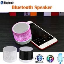 Altavoz Subwoofer Bluetooth, Mini altavoces de Audio inalámbricos con grietas LED de colores, soporte para tarjeta TF AUX con micrófono