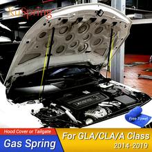 Dla Benz GLA CLA A klasa A180 A200 A250 A45 AMG 2014-2019 zamontuj klapa maski amortyzatory gazowe podnoszenie prętów pręt sprężynowy samochód stylizacji tanie tanio XuSpring Front None Stainless Steel Support China
