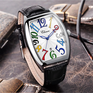 Image 3 - Fashion Luxury Brand Square Watch Men Tonneau Waterproof Business Quartz Leather Wrist Watch for Men Clock Male erkek kol saati