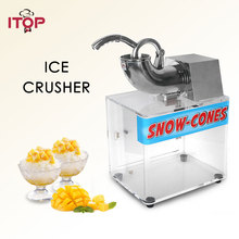 ITOP 180kgs/h Yield Ice Crusher Shaver Electric Snow Cone Maker Stainless Steel Blade Shaved Machine With Box