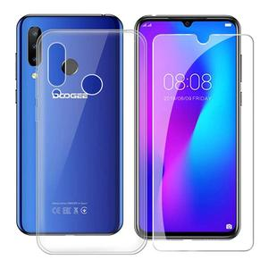 For Doogee N20 Soft Case For For Doogee N20 Tempered glass Luxury Soft TPU Phone Case With Tempered glass For Doogee N20(China)