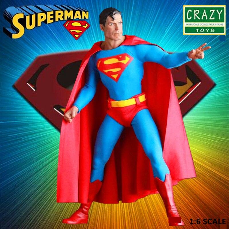Verrückte Spielzeug DC Superman Action Figure 1/6 Beweglichen Justice League Modell Spielzeug