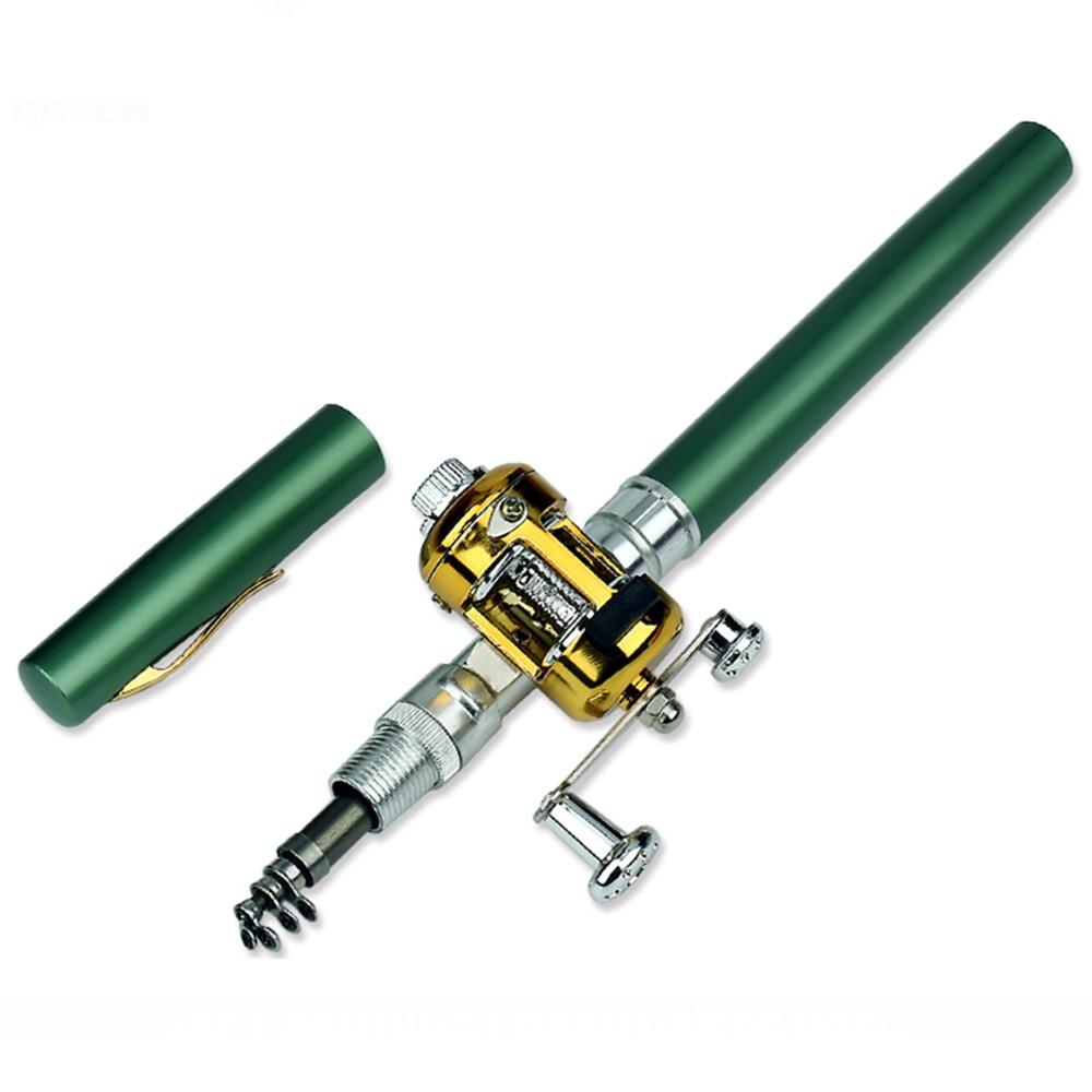 MrY Portable Telescopic Pocket Mini Fishing Rod the Shape of the Fishing Folding Pen with Fishing Reel Pen|Fishing Rods| |  - title=